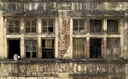 Dilapidated Brick Building of Concern Stock Photos