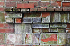 Dilapidated Brick Mantle Royalty Free Stock Image
