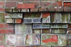 Dilapidated Brick Mantle. With bricks in varying states of disrepair royalty free stock image