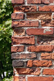 Dilapidated brick wall. Royalty Free Stock Image