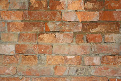 Dilapidated brick wall Royalty Free Stock Photo