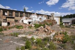Dilapidated building complex Royalty Free Stock Photos