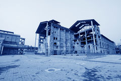 Dilapidated building in a factory Royalty Free Stock Images