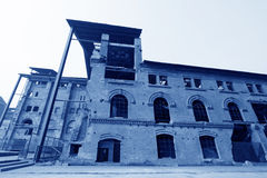 Dilapidated building in a factory Royalty Free Stock Photos