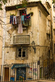 Dilapidated building. Picturesque corner in Alfama. Lisbon. Portugal Royalty Free Stock Photos