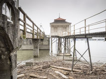 Dilapidated buildings Lake Bodensee in Germany Stock Photo