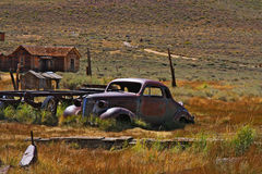 Dilapidated car - Bodie Stock Image