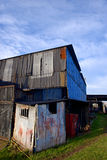 Dilapidated corrugated steel buildings Stock Image
