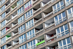 Dilapidated council flat housing block, Balfron Tower. In East London Stock Images