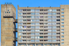 Dilapidated council flat housing block, Balfron Tower. In East London Royalty Free Stock Photos