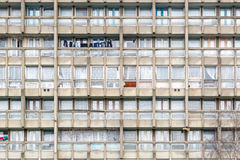 Dilapidated council flat housing block, Robin Hood Gardens Royalty Free Stock Photography
