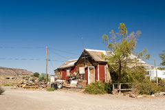 Dilapidated desert building Royalty Free Stock Photos