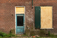 Dilapidated door and window Royalty Free Stock Photography