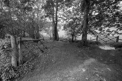 Dilapidated Farm Gate monochrome Royalty Free Stock Photography