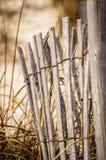 Dilapidated fence stock image