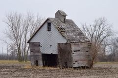 Dilapidated Field Building Royalty Free Stock Photo