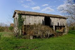 Dilapidated French Barn Royalty Free Stock Photo