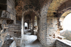 Dilapidated great wall watch tower Stock Photography