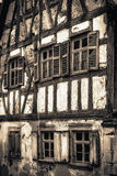Dilapidated Half Timbered Historical House Royalty Free Stock Photos