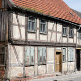 Dilapidated half-timbered house Stock Photos