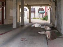 Dilapidated hotel, Northern California stock image