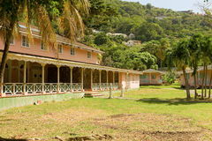 A dilapidated hotel in the windward islands Royalty Free Stock Photography