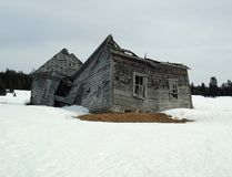 Dilapidated House. An old abandoned house during winter. Photo taken in New Brunswick, Canada Royalty Free Stock Photos