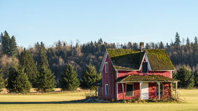 Dilapidated House in a Farmer's Field Royalty Free Stock Photo