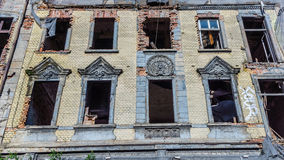 Dilapidated house. In Katowice, Silesia region, Poland Royalty Free Stock Photos