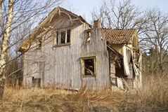 Dilapidated house, main entrance Stock Image