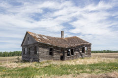 Dilapidated house. Starting to cave in Royalty Free Stock Photo