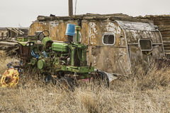 Dilapidated house trailer Stock Image