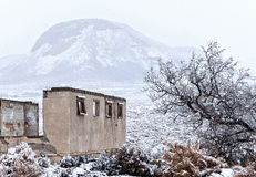 Dilapidated house in Winter Royalty Free Stock Photos