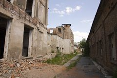 Dilapidated houses Royalty Free Stock Images