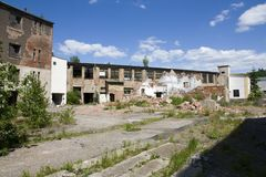 Dilapidated houses Stock Photo