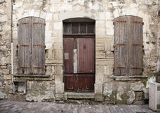 Dilapidated houses beaucaire Royalty Free Stock Image