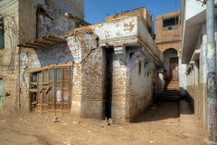 Dilapidated houses of Egyptian village Stock Photo