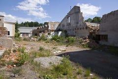 Dilapidated huizen Stock Afbeeldingen
