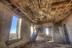 Dilapidated interior of Dr. Jones house Royalty Free Stock Image