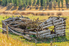 Dilapidated Log House Stock Photos