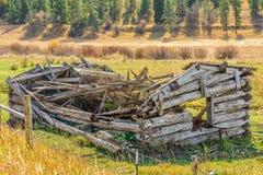 Dilapidated Log House Stock Photos