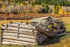 Dilapidated Log House Royalty Free Stock Photo