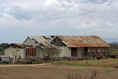 Dilapidated metal barn Stock Image