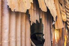 Dilapidated metal housing Stock Photos
