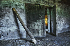 Dilapidated old agricultural building Royalty Free Stock Images