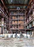 Dilapidated old boiler house Royalty Free Stock Images