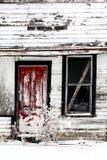 Dilapidated old farm house. In winter Canada Saskatchewan Stock Photography