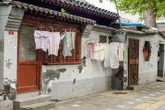Dilapidated old houses in Beijing Royalty Free Stock Image