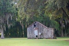 Dilapidated oude keet van Louisiane royalty-vrije stock afbeeldingen