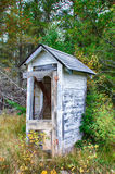 Dilapidated Outhouse. In the Rural Wisconsin Countryside Stock Images